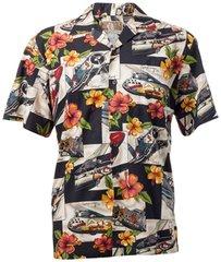 Hibiscus Hawaiian Shirt - Black