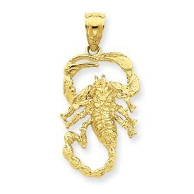 Open Backed Small Scorpion Pendant