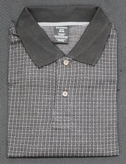Men's XL George Black Plaid Polo Shirt