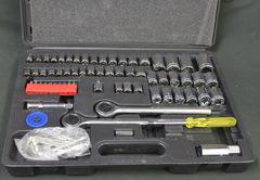 64 pc Ratchet and Socket Set SAE/Metric