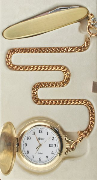 Belair A1615a Gold Tone Pocket Watch