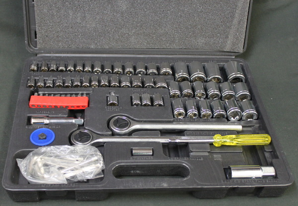64 pc Ratchet and Socket Set SAE/Metric
