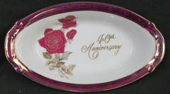 Norcrest 40th Anniversary Porcelain Collectble Plate
