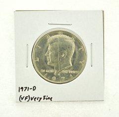 1971-D Kennedy Half Dollar (VF) Very Fine N2-3450-6