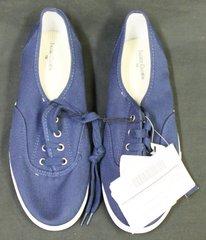 Faded Glory Women's Glitter Canvas Lace Up Shoe Size 10