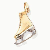 Two Tone Ice Skate Charm (JC-864)