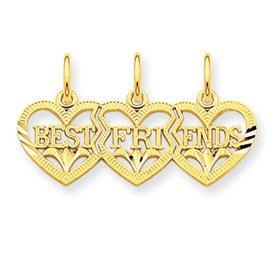 Triple Heart DC Best Friends Break Apart Charm (JC-055)