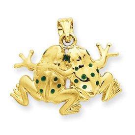 Enameled Frogs Pendant (JC-103)