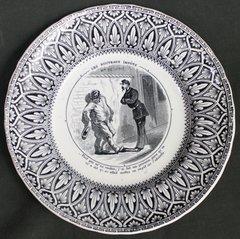 "19th C French J VIEILLARD Bordeaux Transfer ware Plate""Analyze Emerging Taxes"""