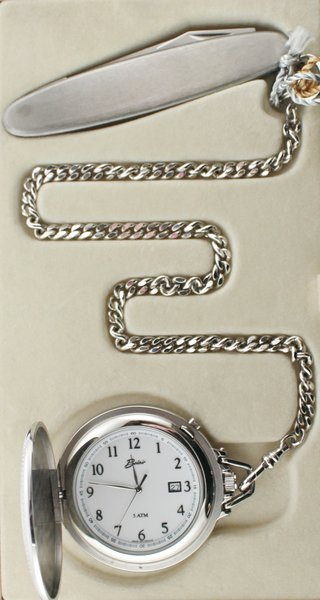 Belair A1615 Silver Tone Pocket Watch