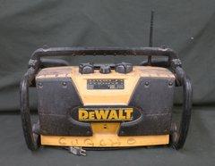 DeWalt DW911 Work/Job Site Radio Yellow Black TESTED! NO BATTERY!!