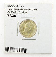 1946 Silver Roosevelt Dime RATING: (G) Good (N2-5843-3)