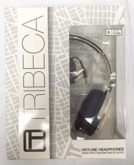 Tribeca Aviator-Style Natural Sound Headphones with In-Line Microphone - Genuine Maple Wood