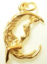 Swinging Woman On Moon Pendant (JC-182)