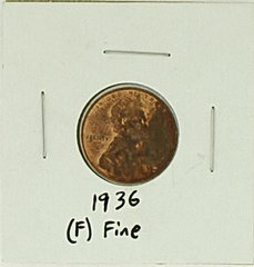 1936 United States Lincoln Wheat Penny Rating (F) Fine