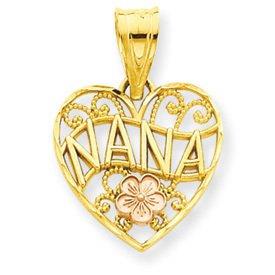 Two Tone Nana Heart Pendant (JC-068)
