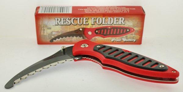 Frost Cutlery Rescue Folder 16-698R Knife