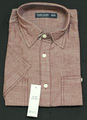 Faded Glory Mens Small Red Button Up Short Sleeve Shirt