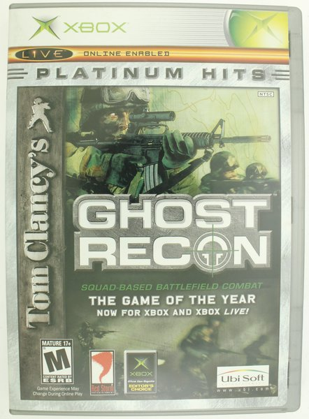 Tom Clancy's Ghost Recon Platinum Hits (Xbox, 2003)