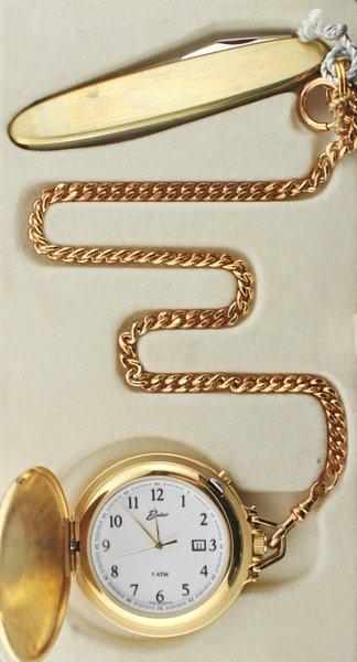 Belair A1615 Gold Tone Pocket Watch