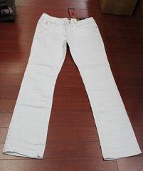 Women's Sasson Big Stitch Bootcut Jeans Size 4 Color White Denim