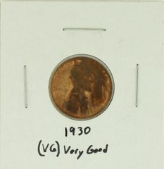1930 United States Lincoln Wheat Penny Rating (VG) Very Good