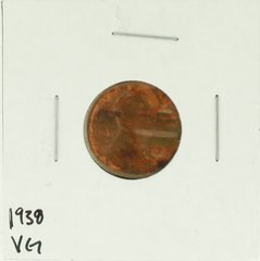 1938 United States Lincoln Wheat Penny Rating (VG) Very Good