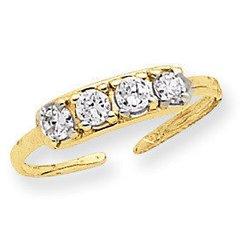 4 Stone Toe Ring (JC-838)
