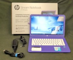 "HP Stream 14-AX020WM 14"" Intel Celeron N3060 1.6Ghz 4GB 32GB Windows 10 Laptop"
