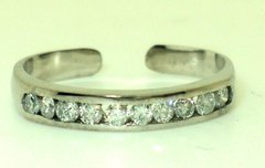 Channel Set Diamond Toe Ring (JC-797)