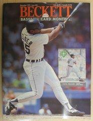 BASEBALL BECKETT CARD MONTHLY -Dec 1991 / Issue #81 Cecil Fielder, Robin Ventura