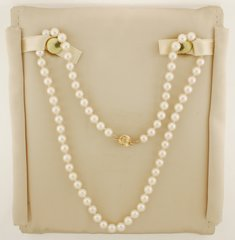 """18"""" 5.5 - 6.0 mm Cultured Saltwater Pearl Strand Necklace with 14K Gold Clasp"""