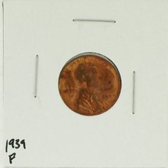 1939 United States Lincoln Wheat Penny Rating (F) Fine