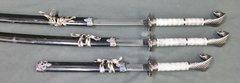 Japanese Samurai 3 Piece Cobra Handle katana Sword Set