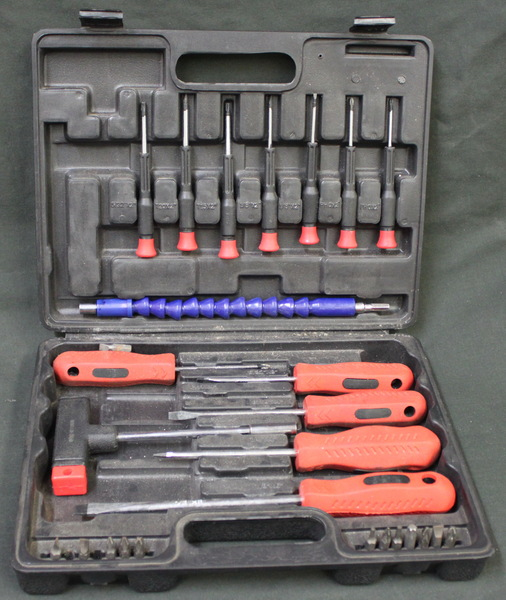 30 pc Cushion Grip Screwdriver Set (Missing Pieces)