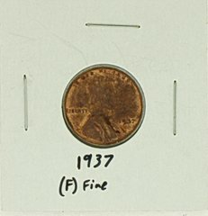 1937 United States Lincoln Wheat Penny Rating (F) Fine
