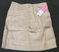 George Khaki School Uniform Stretch Fly Front Scooter Skirt Girls 6X