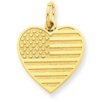 USA Flag Heart Charm (JC-757)