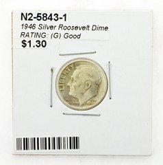1946 Silver Roosevelt Dime RATING: (G) Good (N2-5843-1)