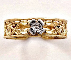 Filigree Two Tone Toe Ring (JC-077)