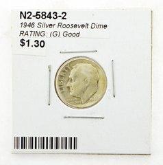 1946 Silver Roosevelt Dime RATING: (G) Good (N2-5843-2)