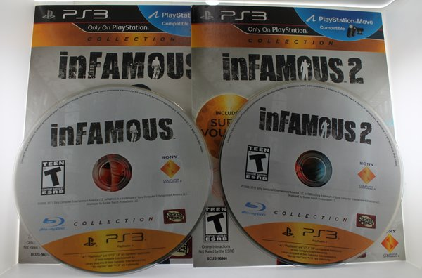 INFAMOUS COLLECTION 1 and 2 (Sony Playstation 3, 2012) Cardboard Sleeves