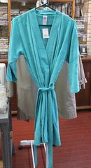 CS Women 3/4 Sleeve Terry Robe Size Small Color Teal splash