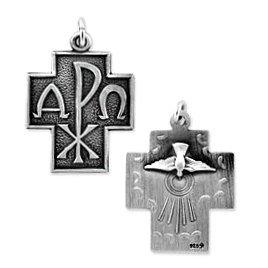 Alpha Omega Cross Pendant (JC-884)