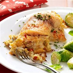 Crab & Shrimp Stuffed Tilapia