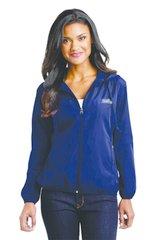 Ladies Navy Hooded Essential Jacket