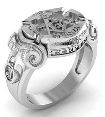 "Masonic ""Annuit Coeptis"" Ring"