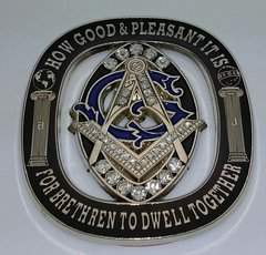 Crested Masonic Car Emblem