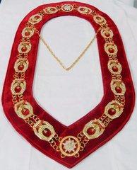 Shrine Chain Collar With Red Velvet