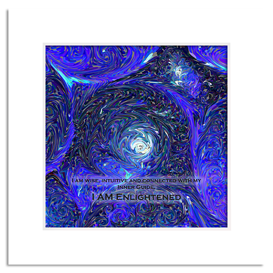 Organic Yoga Energy Art Indigo 6th Chakra Third Eye